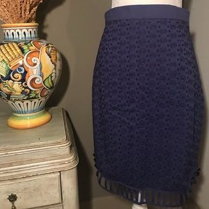 Unique Eyelet Skirt